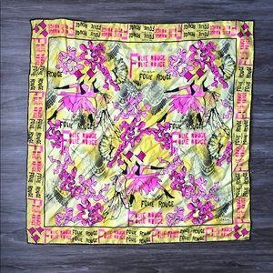 ESCADA 100% Silk Scarf  Yellow 33x33